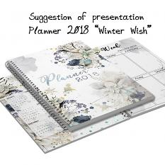 layout using Planner Winter Wish by florju designs