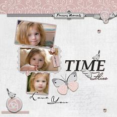 """Love You"" digital scrapbook layout by Geraldine Touitou"
