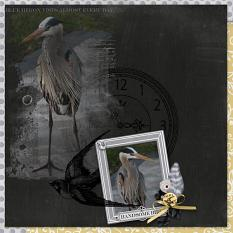 """Handsome Bird"" digital scrapbook layout by Debby Leonard"
