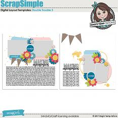 Double Trouble 3 Digital Scrapbook Templates by Dagi's Temp-tations