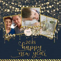 Happy New Year LO by Susie Roberts