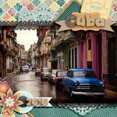 Cuba, a LO made with A Vintage Card Collection by Caroline B.