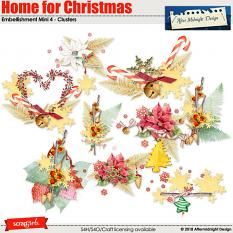 Home for Christmas embMini 4 Clusters by Aftermidnight Design