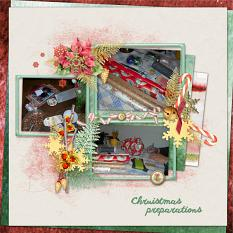 Layout Christmas preparations by Marie Orsini using Home for Christmas EmbMini 4 Clusters from Aftermidnight Design