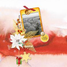 Layout Frosty Weather by Marie Orsini using Home for Christmas EmbMini 5 from Aftermidnight Design