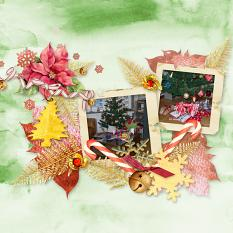 Layout Christmas pleasures by Marie Orsini using Home for Christmas from Aftermidnight Design
