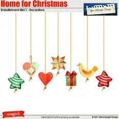 Home for Christmas EmbMini 1 by Aftermidnight Design