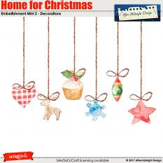 Home for Christmas Emb Mini 2 by Aftermidnight Design