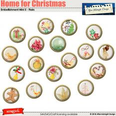 Home for Christmas Emb Mini 5 Flairs by Aftermidnight Design