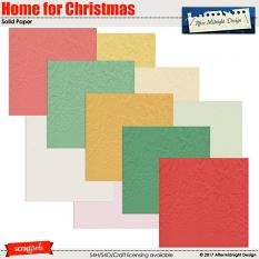 Home for Christmas Paper Solid by Aftermidnight Design