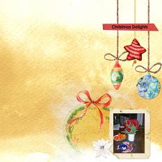 Layout Christmas2 by Marie Orsini using Home for Christmas Value Pack from Aftermidnight Design