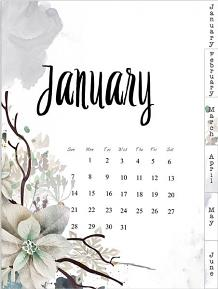 layout using Planner A5 Winter Wish : Dividers calendar by florju designs