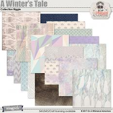 A Winter's Tale Pattern And Mixed Media Papers by On A Whimsical Adventure