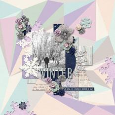 Digital layout using Value Pack: A Winter's Tale by On A Whimsical Adventure