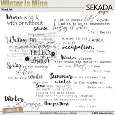 Winter Is Mine Word Art