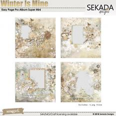 Easy Page Pro Album: Winter Is Mine Super Mini