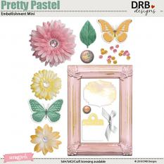 Pretty Pastel Embellishment Mini by DRB Design | ScrapGirls.com