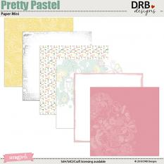 Pretty Pastel Paper Mini by DRB Design | ScrapGirls.com