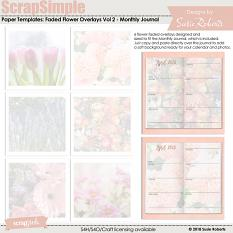 ScrapSimple Paper Templates: Faded Flower Overlays Vol 2
