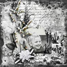 layout using Welcome Winter Collection Biggie by florju designs