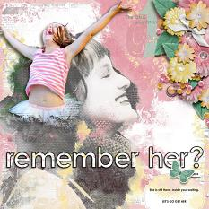 """Remember Her?"" digital scrapbook layout by Joslyn Bexley Cavanaugh"