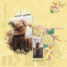 """A Day to Remember"" digital scrapbook layout by Andrea Hutton"