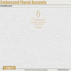 Embossed Florals