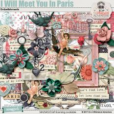 I Will Meet You In Paris Embellishments by On A Whimsical Adventure