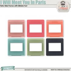 I Will Meet You In Paris Retro Slide Frames by On A Whimsical Adventure