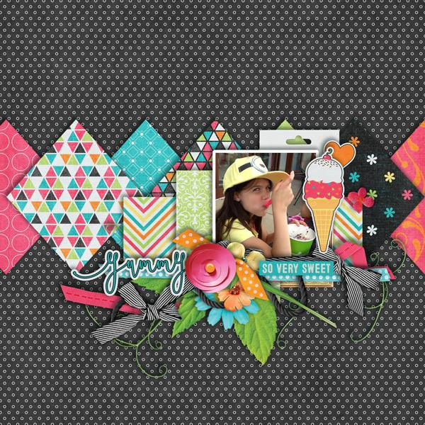 Layout by Joanna using Cool Summer Treats - Collection Biggie