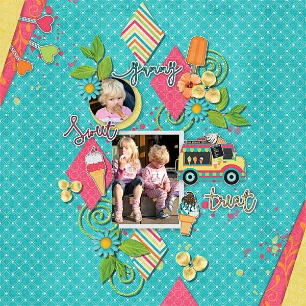 Layout by Glori using Cool Summer Treats - Collection Biggie