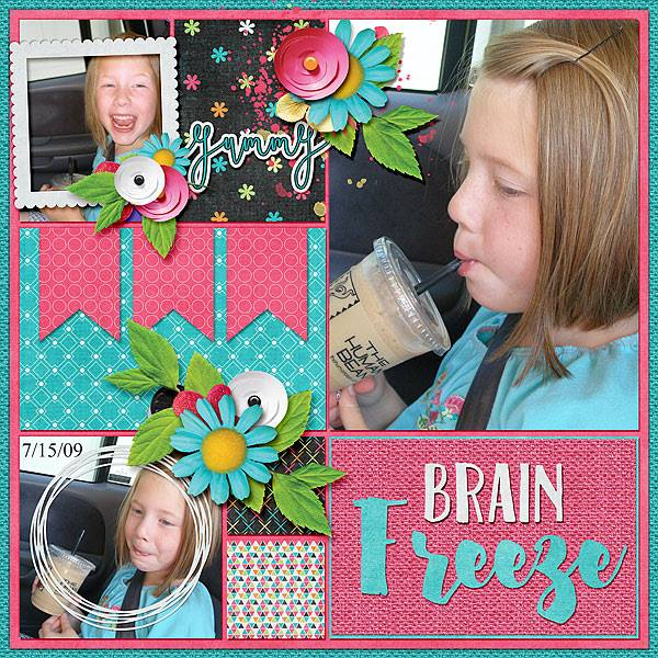 Layout by Bekki using using Cool Summer Treats - Collection Biggie