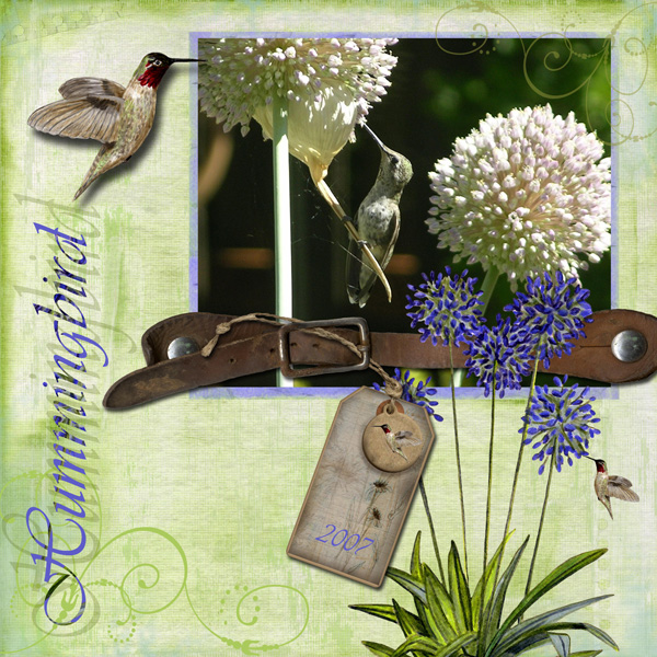 Layout by Angela Blanchard using Feathered Friends Collection, Digital Stickers: Floral Abundance, and SS Tools - Transpaent Overlay: Scrollwork1