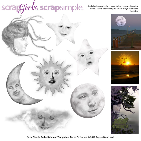 ScrapSimple Embellishment Templates: Faces of Nature