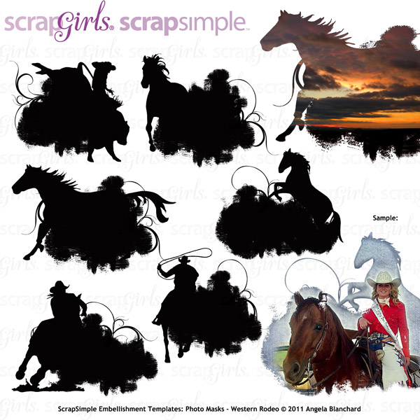 Also See ScrapSimple Embellishment Templates: Photo Masks-Western Rodeo- Sold Separately