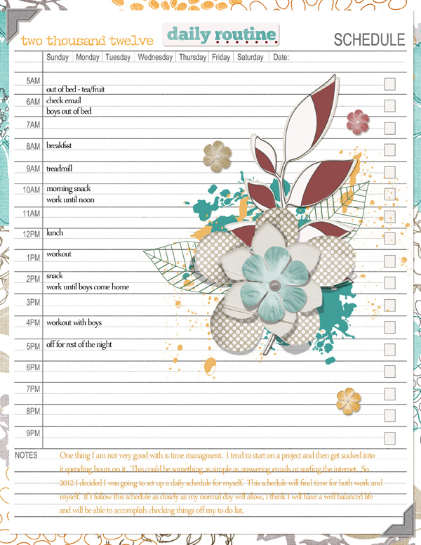 Layout by Angie Briggs product listed below