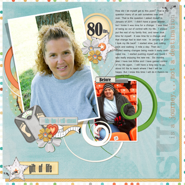 Gift Of Life layout by Angie Briggs.  See below for links to product used.