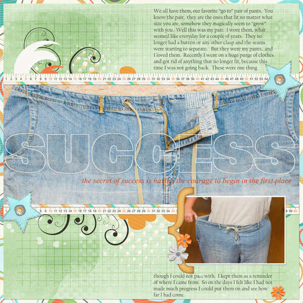 Success layout by Angie Briggs.  See below for links to product used.