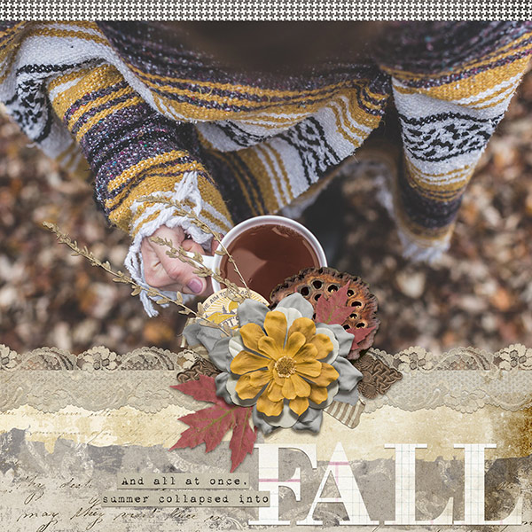 Fall layout using Backroads Collection Biggie