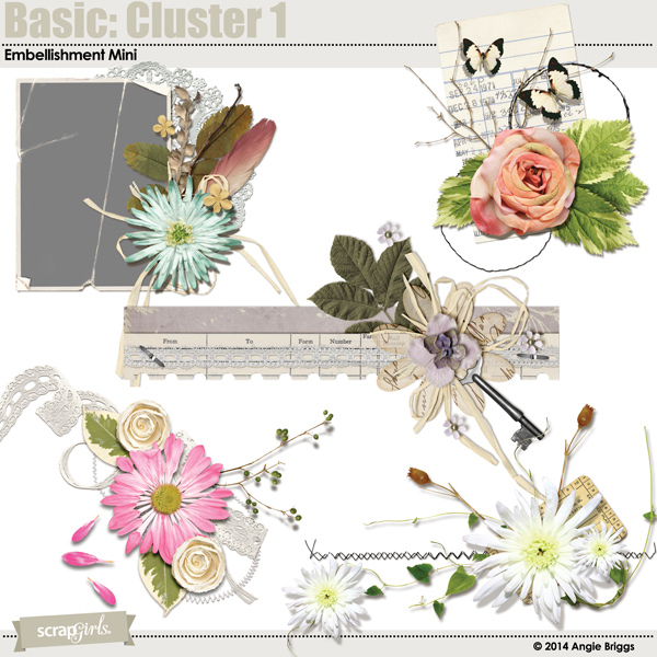also available Basic: Cluster 1 Embellishment Mini (linked below)