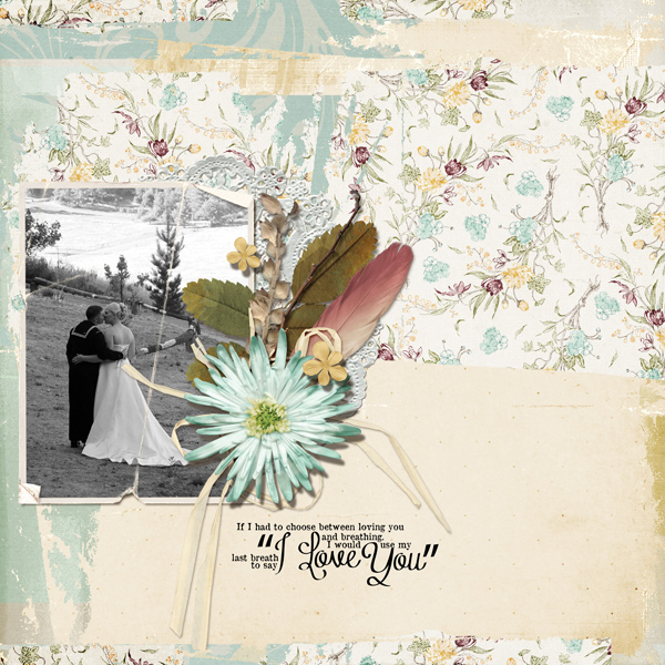 a Wedding layout using Basic: Cluster 1 Embellishment Mini (product listed below)