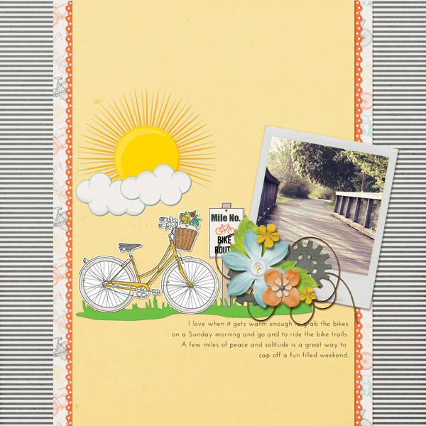 layout using Bike Ride Collection Mini