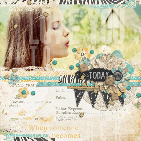 layout using Chic Instincts Collection Biggie
