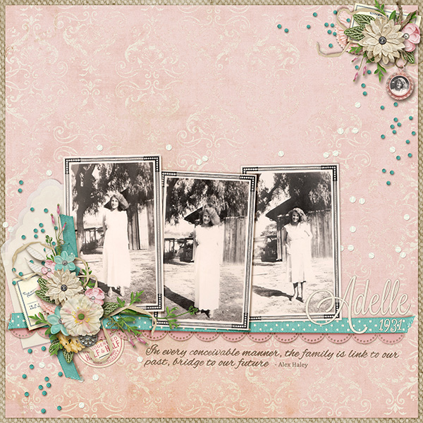Heritage layout using Chic Instincts
