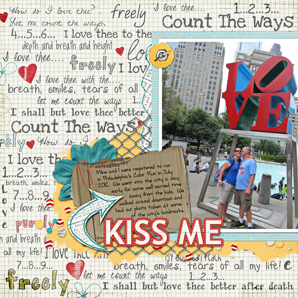 Kiss layout by Becca Hauck product listed below