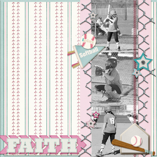Faith layout by Angie Briggs using Diamond Diva Collection