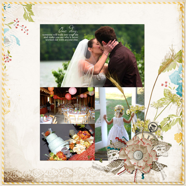 """One Day"" Layout By Angie Briggs (product listed below)"