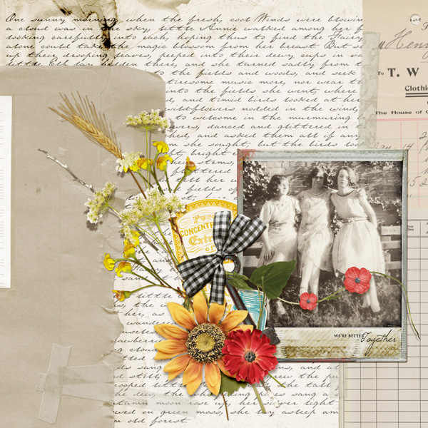 """""""Better Together"""" Layout By Angie Briggs (product listed below)"""