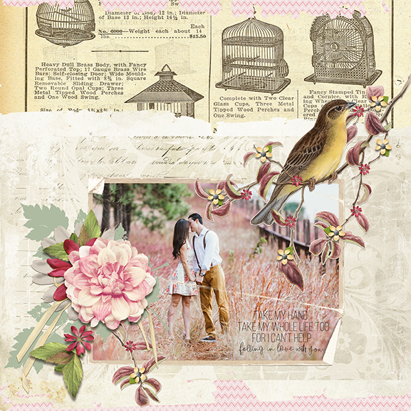 couple layout using Love Notes Collection Super Mini