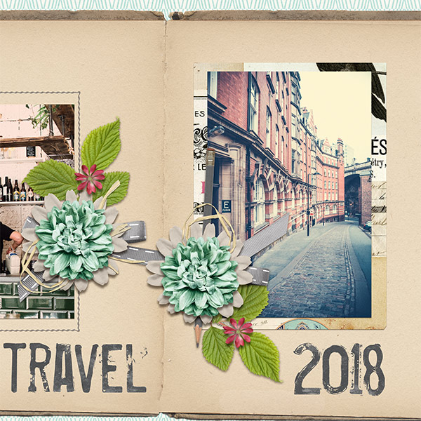 Travel layout using Love Notes Paper Super Mini